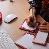 Çiçekli Pembe Tasarım Not Defteri Seti
