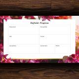 Venti Haftalık Program – Pembe Çiçekli Tasarım